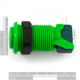 Botão Côncavo 35mm - Verde