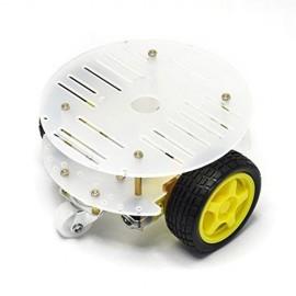 carrinho arduino 2wd 3 rodas branco