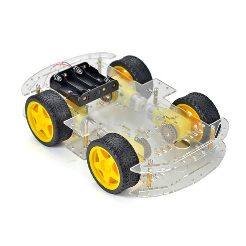 kit carro robot 4wd 4 rodas 2 andares
