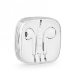 Auriculares Stereo Jack 3.5mm para iPhone - Brancos