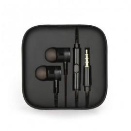 Metal Stereo Headphones Jack 3.5mm - Black