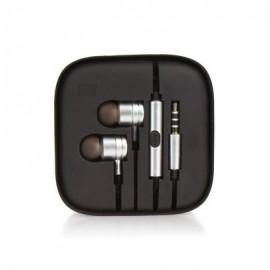 Auriculares Stereo Jack 3.5mm em Metal - Prateados