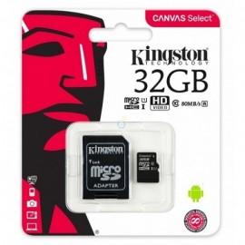 Cartão de Memória SD 32GB Classe 10 com Adaptador - Kingston