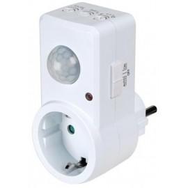 Enchufe Schuck 220V con Sensor de Movimiento - Perel