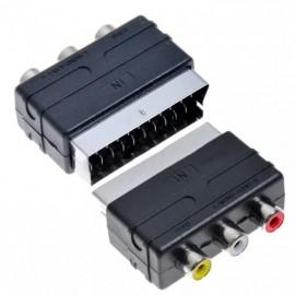 Adaptador Euroconector SCART/ 3x RCA