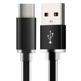 Cable USB A - USB Tipo-C 3.1 (1M) - Negro