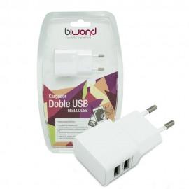 Cargador Doble USB 2A-1A