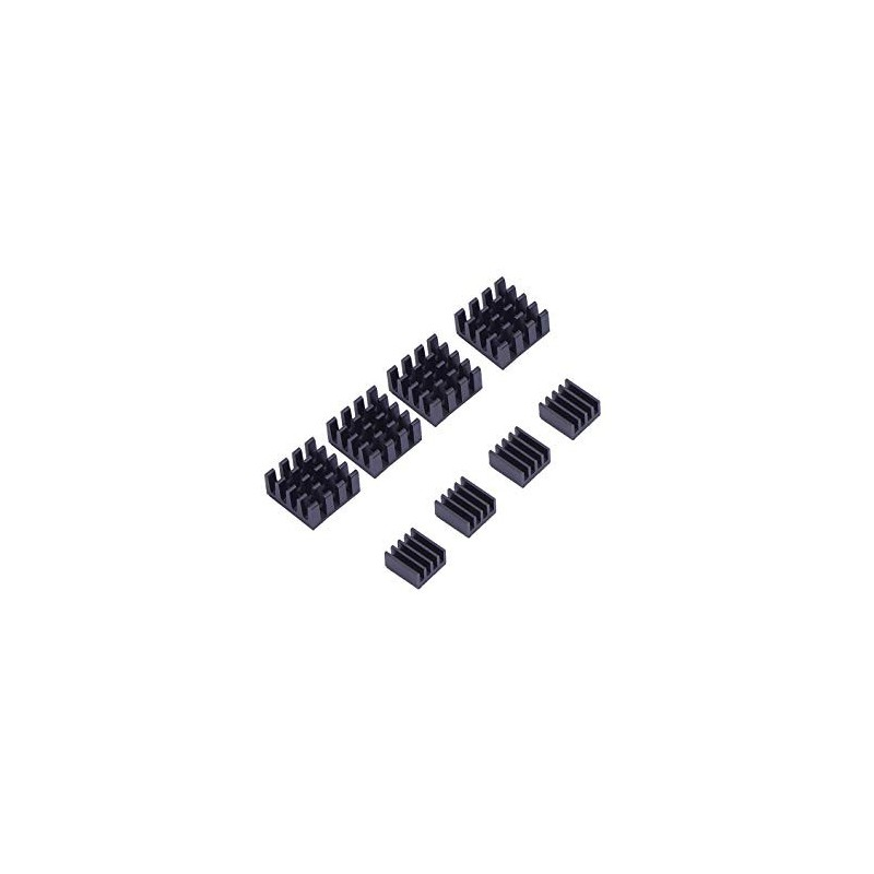 Kit de Refrigeração com 8x Dissipadores de Calor para Raspberry Pi