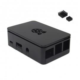Caja Oficial con Disipadores de Calor para Raspberry Pi - Negra