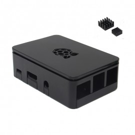Official Box with Heat Sinks for Raspberry Pi - Black