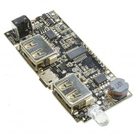 Dual USB 5V 1A Battery Charger Module