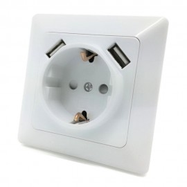 Built-in Electrical Outlet with 2 USB Inputs 5VDC 2.1A