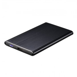 "USB3.0 Aluminum External Box for 2.5"" HDD/SSD Hard Drives Black - TooQ"