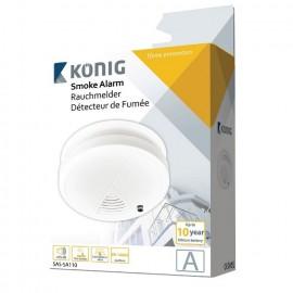 Detetor de Fumos Óptico com Alarme - Konig