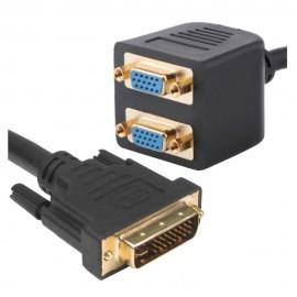 Adaptador 1 Entrada DVI-I para 2 Saídas VGA - ProK