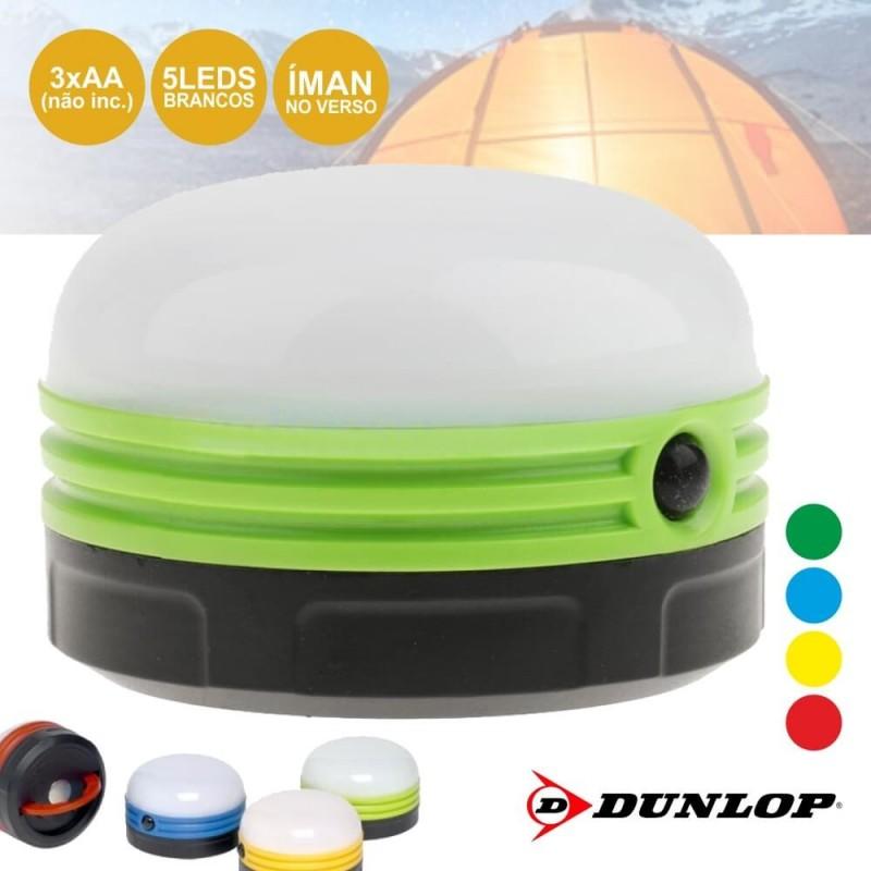 Mini Lanterna com 5 LEDs para Campismo Verde - Dunlop