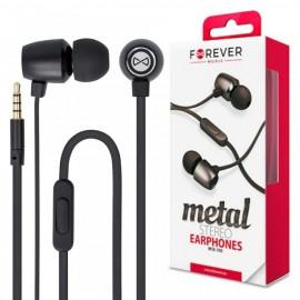 Auriculares Stereo com Fios e Microfone Metálicos