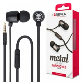 Stereo Earphones with Metal Wires and Microphone
