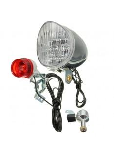 Conjunto de Luzes com Dínamo para Bicicleta