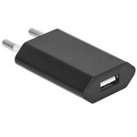 Alimentador Compacto con Puerto USB 5V 1A - Negro