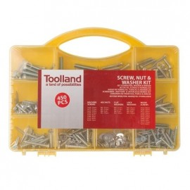 450 Pieces Case: Bolts, Nuts and Washers - Toolland