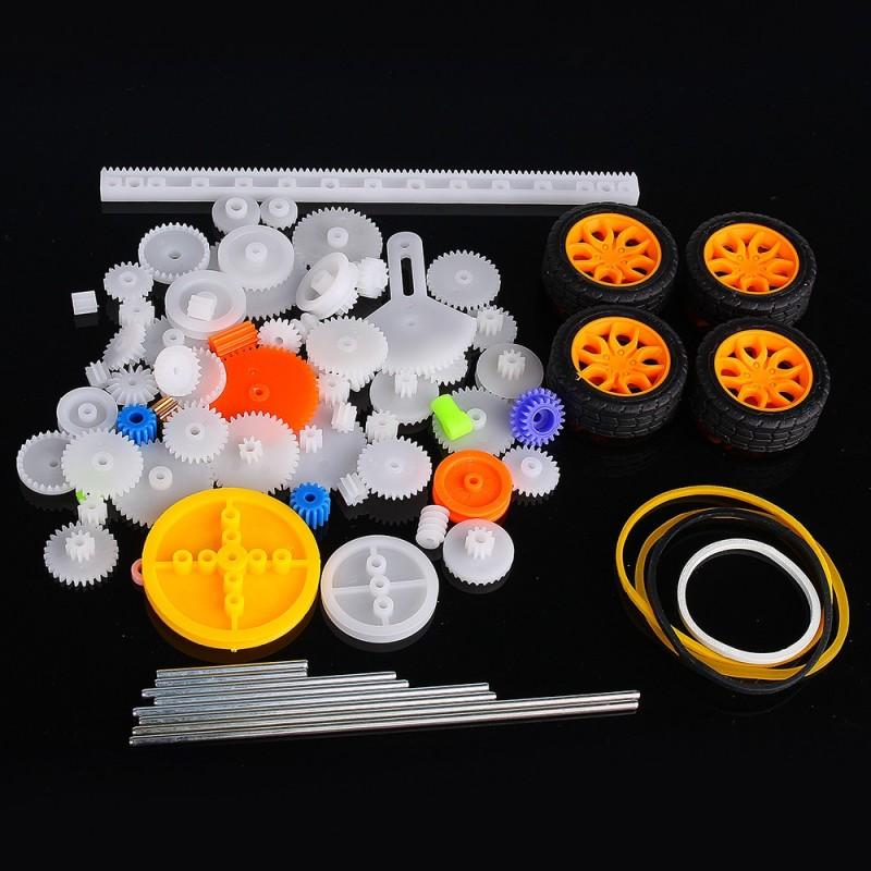 Pack de Ruedas Dentadas de Plástico para Robótica (78 piezas)