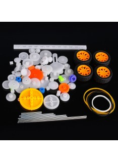 Plastic Toothed Wheel Pack for Robotics (78 Pieces)