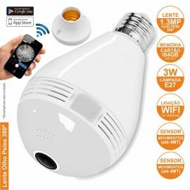 Lâmpada E27 com Câmara IP Incorporada Wifi
