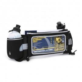 Bolsa de Cintura com uma janela para o smartphone e espaço para transportar duas garrafas de água.