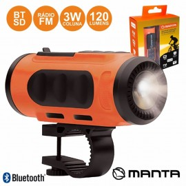 Bicycle Flashlight with Speaker and BT/FM/SD/USB - Manta