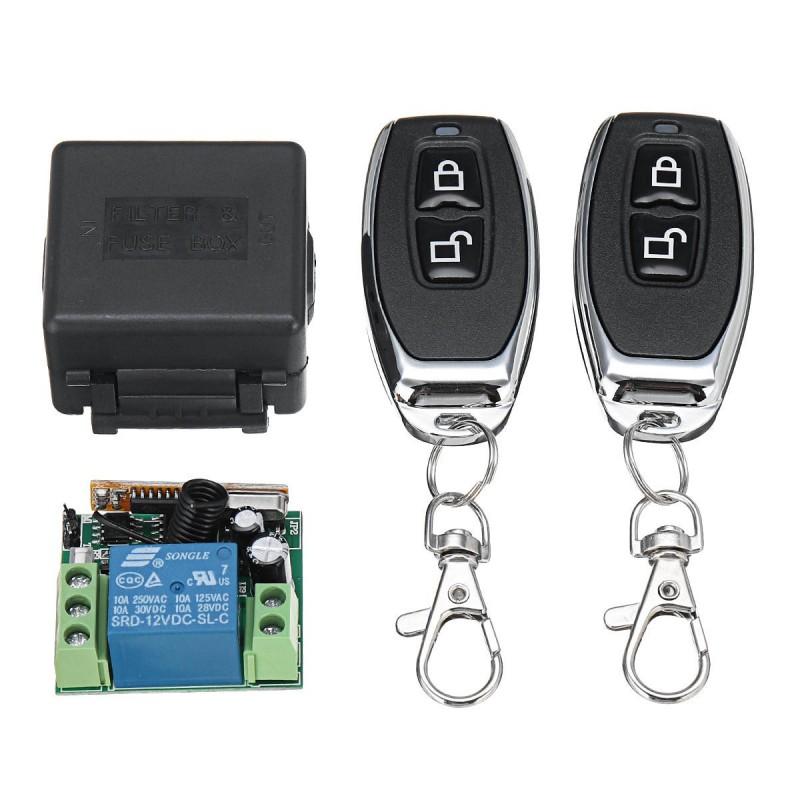 Módulo Receptor De Relé Rf 433mhz Con 2 Comandos Wireless Control Remoto