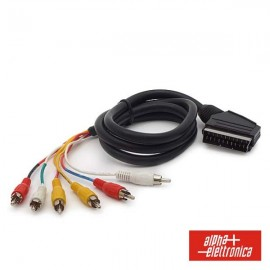 Cable Scart Macho / 6 RCA Macho de 1.5m