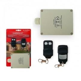 Kit Emisor y Receptor de 2 Canales y 2 Mandos para Jardín