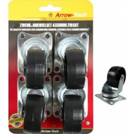 Pack of 4 Black Wheels (4x50mm) - ProFTC