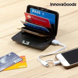 PowerBank 1800mAh com Carteira Porta-Cartões