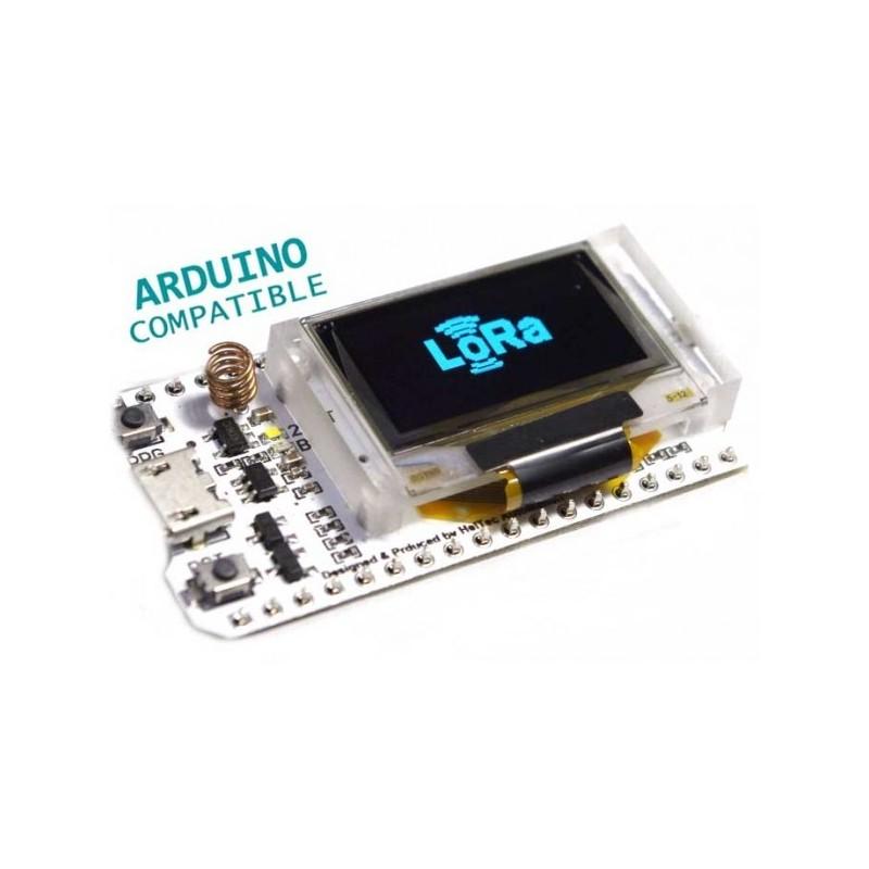 "Módulo WiFi Bluetooth ESP32 LoRa SX1278 433MHz com Display OLED 0.96"""