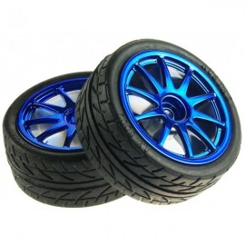 Kit 2 Ruedas Azules 65mm