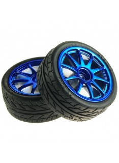 Kit 2 Blue Wheels 65mm