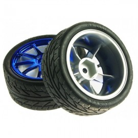 Kit 2 Blue Wheels