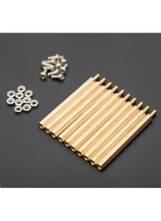 Set of 10 M3 50mm Hexagonal Separators with Bolts and Nuts