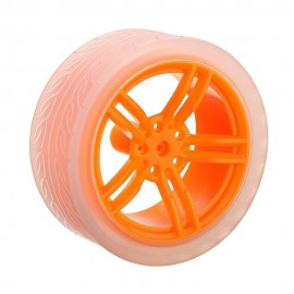 65mm Wheel with 3-6V DC Motor for Orange Robot Chassis