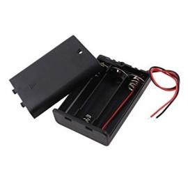 Soporte para Batería 3xAA con Interruptor y Cable
