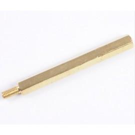 Brass Bolt M3 50+6mm