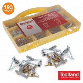 193 Piece Case: Chipboard Bushings and Screws