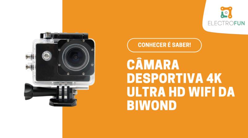 Câmara Desportiva 4K Ultra HD com WiFi, HDMI e Controlo Remoto da Biwond